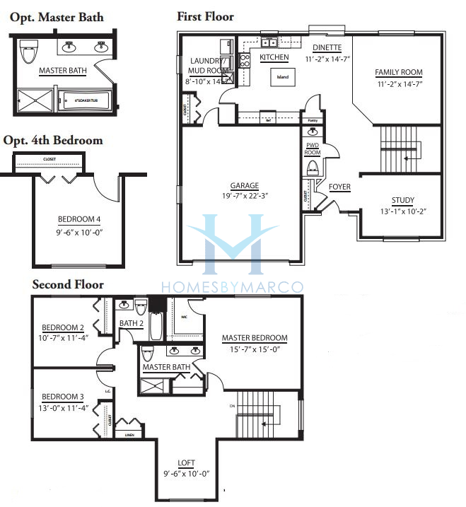 Daybreak model in the leigh creek subdivision in new lenox for The lenox floor plan
