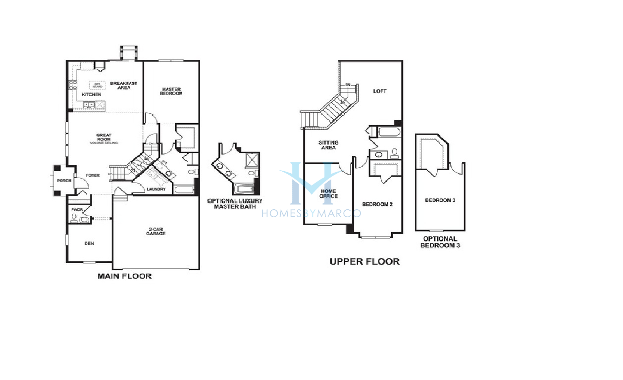 Dearborn model in the sheffield square subdivision in for Sheffield floor plan