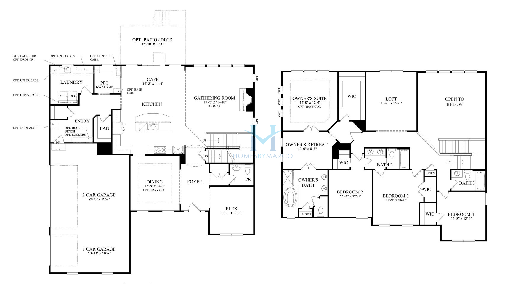 Deer valley model in the legacy of barrington subdivision for Barrington floor plan