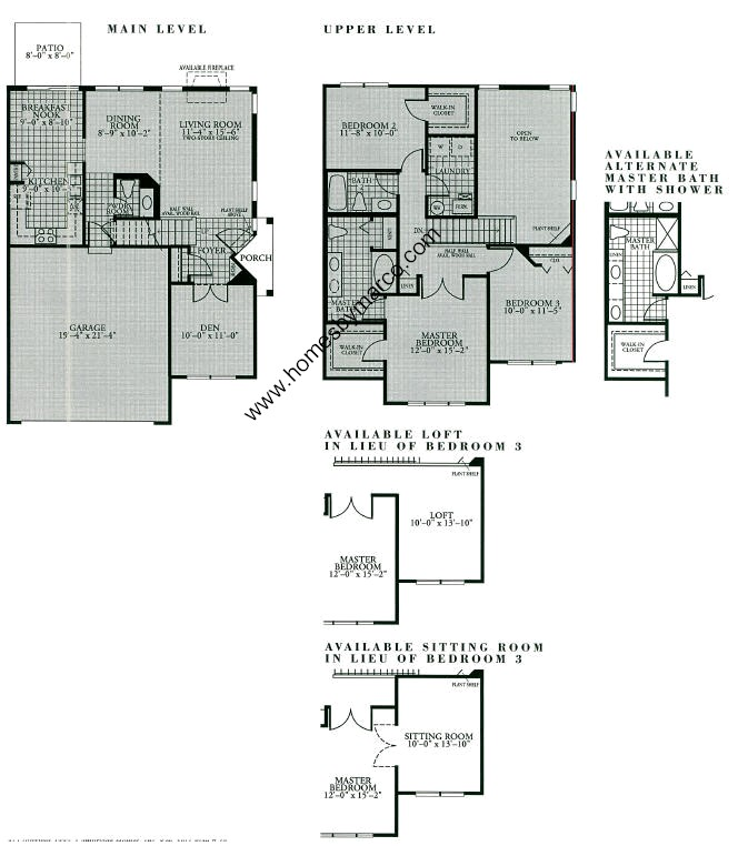 Deerbrook Apartments: Deerbrook Model In The Holiday Park Subdivision In Fox