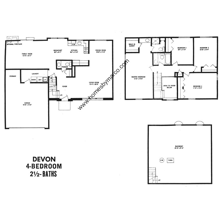 Devon model in the devonshire subdivision in buffalo grove for Devonshire floor plan