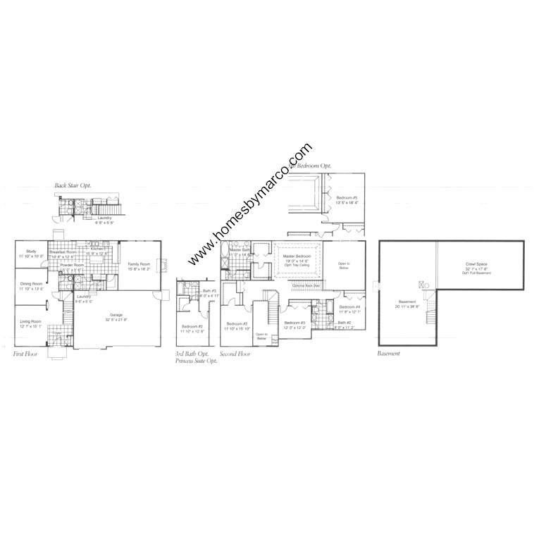 Devonshire model in the algonquin lakes subdivision in for Devonshire floor plan
