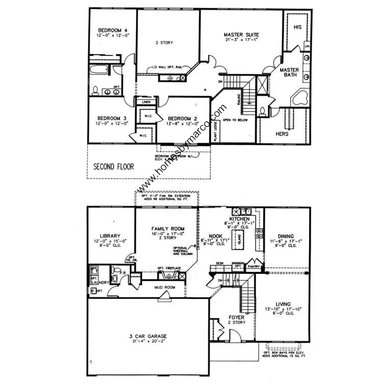 Devonshire model in the stratton oaks subdivision in lake for Devonshire floor plan