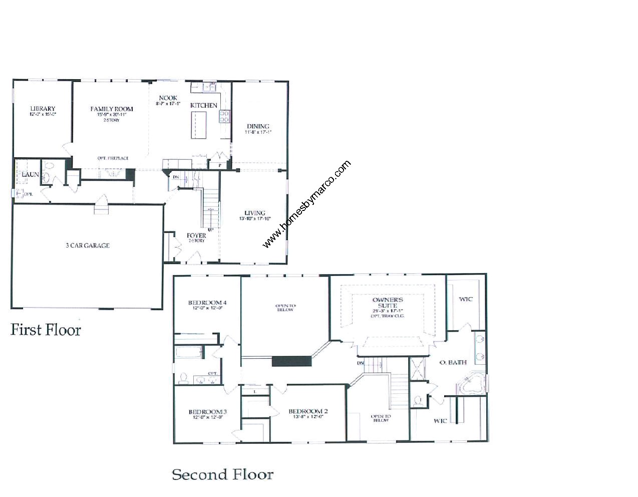 Devonshire model in the Grants Grove subdivision in Lindenhurst – Pulte Homes Floor Plans
