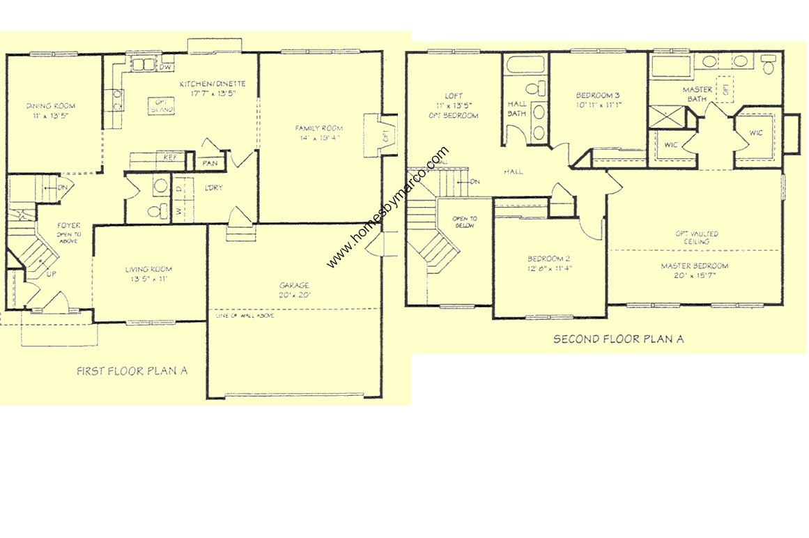 Devonshire floor plan devonshire model in the westglen for Devonshire floor plan