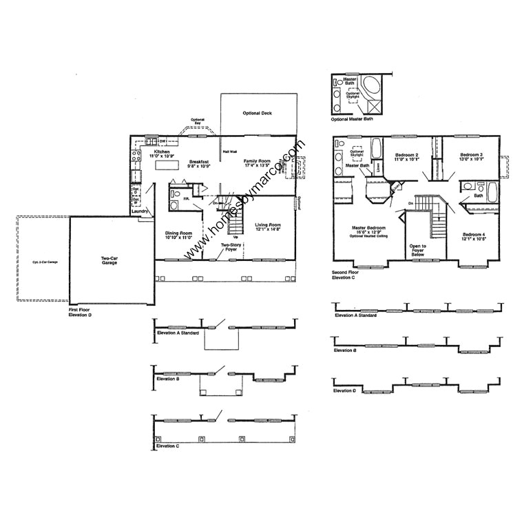 Devonshire model in the aspen grove subdivision in for Devonshire floor plan