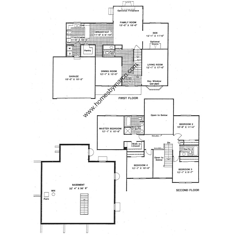 Devonshire model in the braemar subdivision in lake zurich for Devonshire floor plan