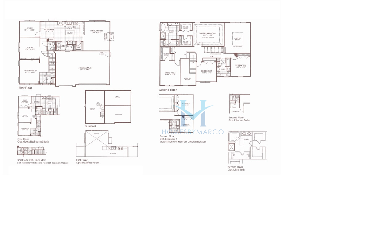 100 Devonshire Floor Plan 1 5 Story French Country