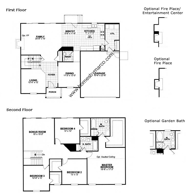 Dinmont model in the amber fields subdivision in aurora for Model home floor plans