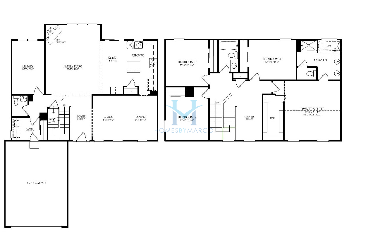 Homes By Marco Floor Plans: Dorchester Model In The Prescott Mill Subdivision In