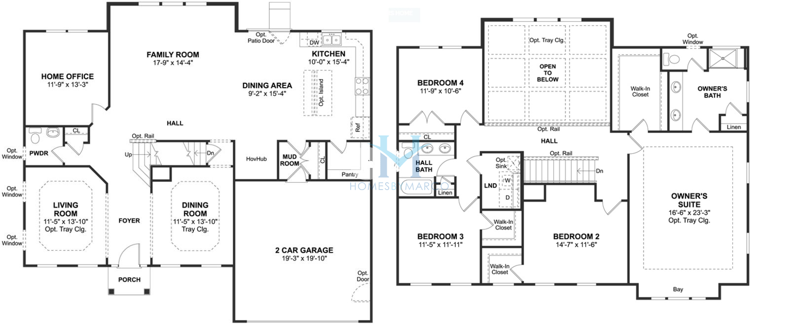K Hovnanian Floor Plans: Dover Model In The Sagebrook Subdivision In South Elgin