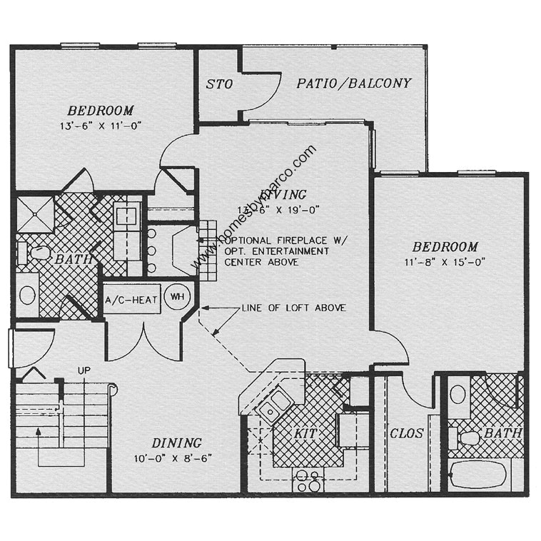 Dover model in the stratford court subdivision in lake for Stratford homes floor plans