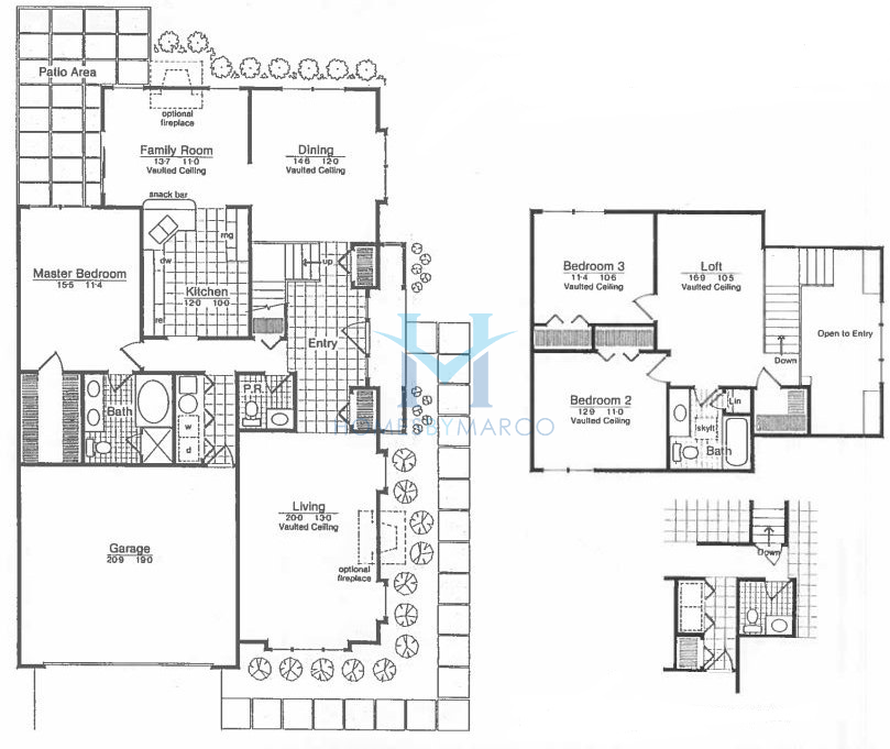 Dunbury model in the bentley place subdivision in buffalo Place builders floor plans