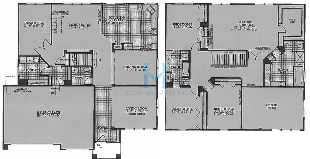 Homes By Marco Floor Plans: Edington Model In The Cambridge Lakes Subdivision In