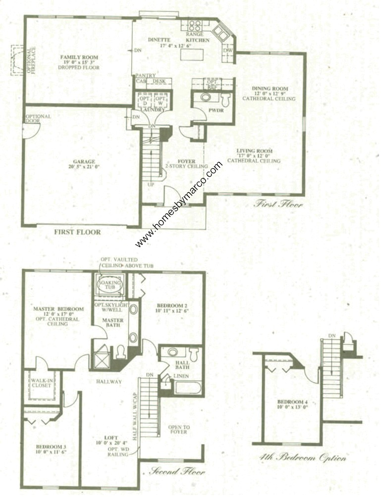 Ellis model in the park place subdivision in oswego for Park place floor plans