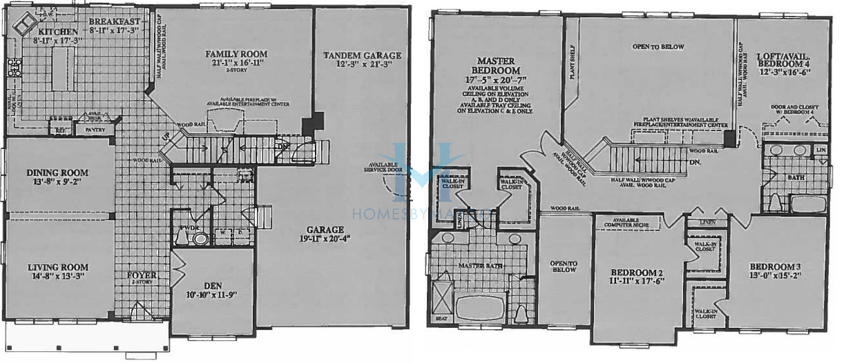 images of floor plans ellsworth model in the the shires subdivision in lake 18768