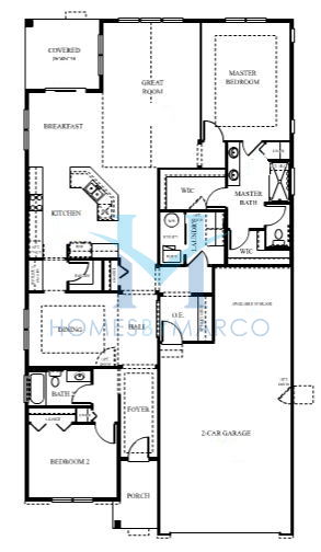 Fairmont model in the carillon club subdivision in for Subdivision house plans
