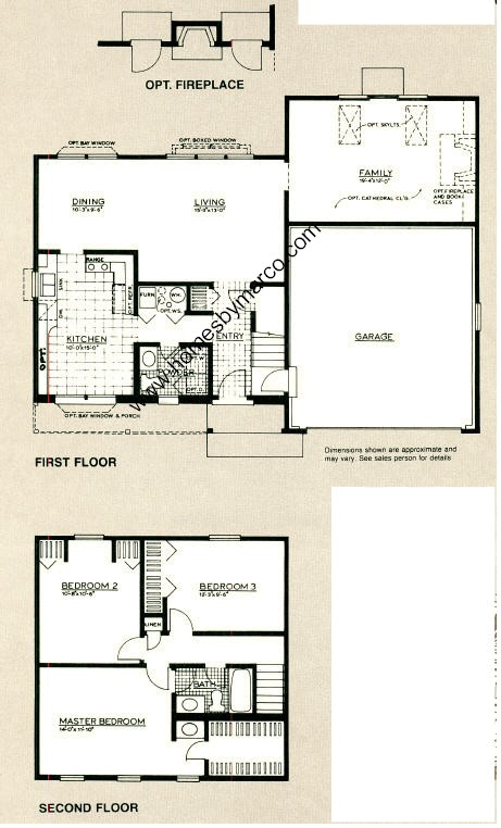 Franklin House model in the Fredericksburg Farm subdivision in – Winfield House Floor Plan