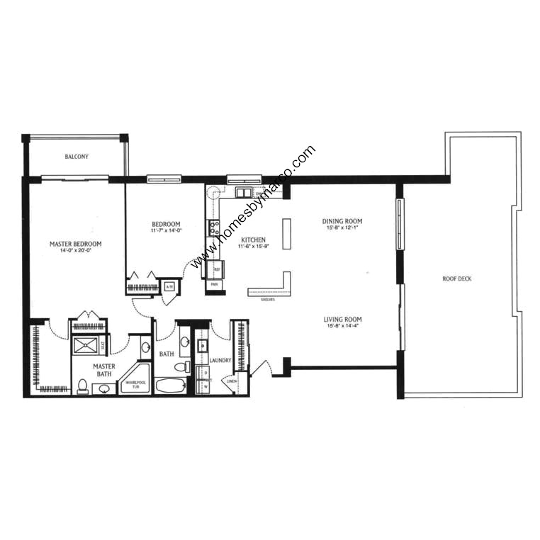 Garfield model in the madison place subdivision in skokie Place builders floor plans