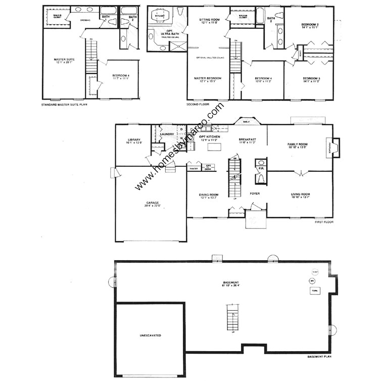 Glenmoor model in the canterbury fields subdivision in Canterbury floor plan