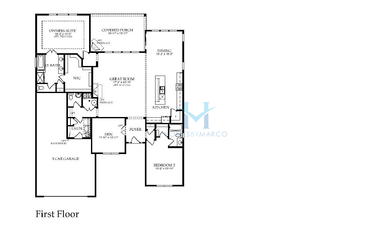 Hampshire model in the del webb sun city subdivision in - Model house design with floor plan ...