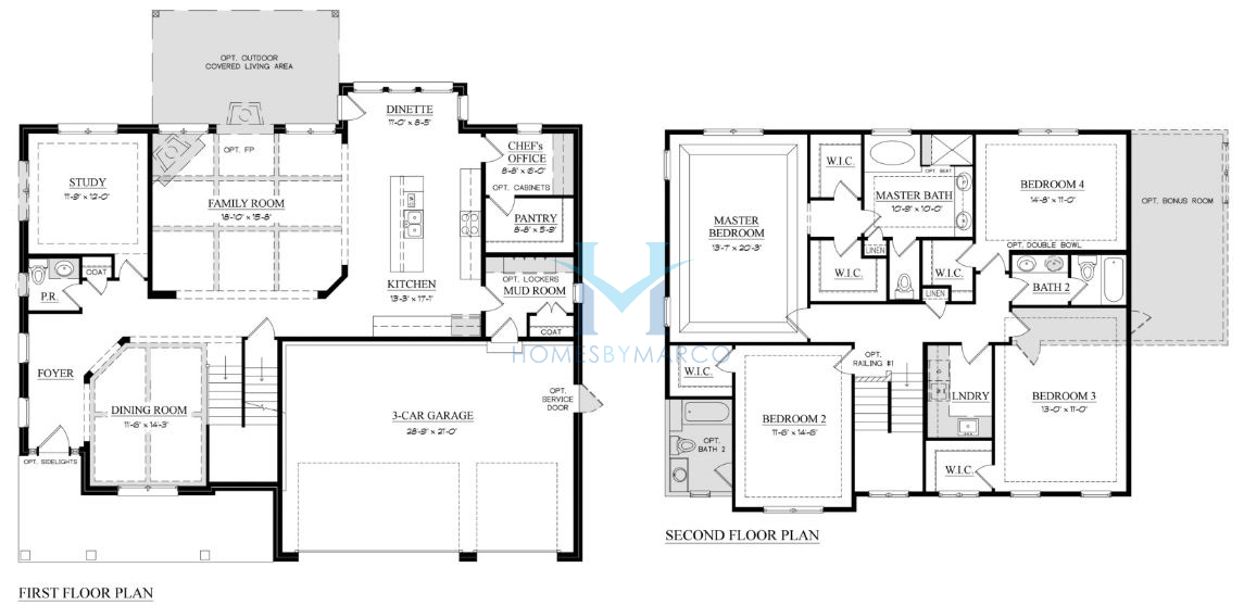 Hampton model in the greystone ridge subdivision in orland for Greystone homes floor plans