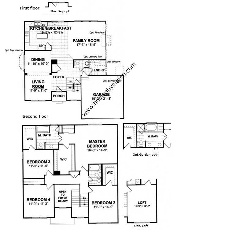 Carrington Floor Plan Ryland Homes Thefloors Co