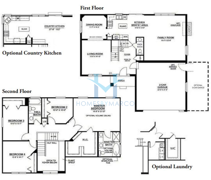 Hawthorne model in the nantucket lakes subdivision in new Nantucket floor plan