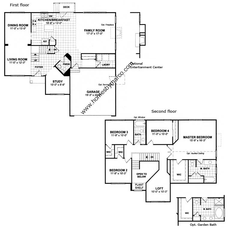 Ryland Townhomes Floor Plans