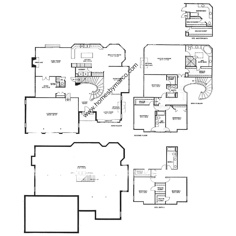 Hilldale model in the canterbury fields subdivision in for Canterbury floor plan