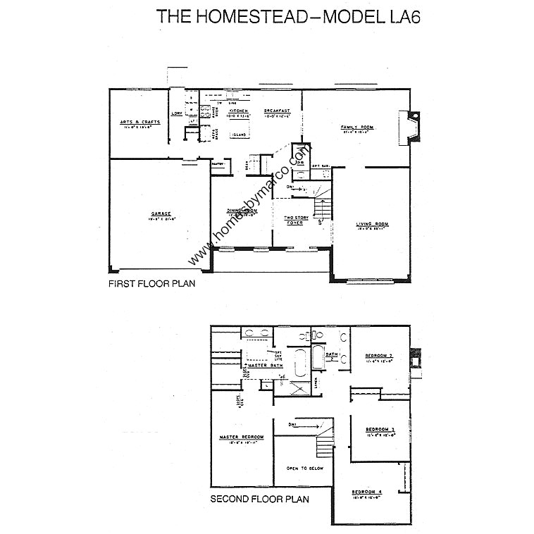 Homestead Model In The Lake Arlington Towne Subdivision In
