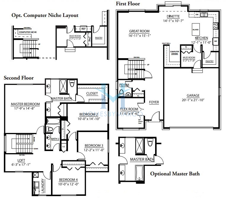 Hunter model in the leigh creek subdivision in new lenox for The lenox floor plan