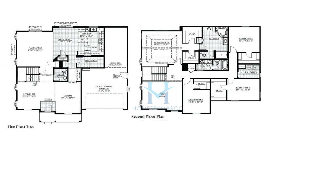 Jasper model in the rockwell place subdivision in lakemoor Place builders floor plans