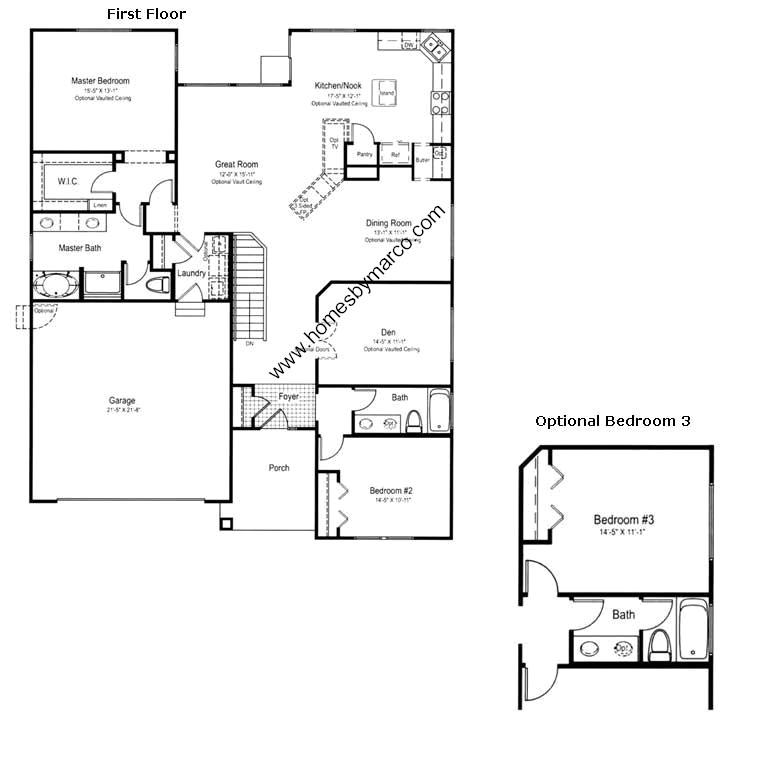 Kendall model in the remington grove subdivision in for Kendall homes floor plans