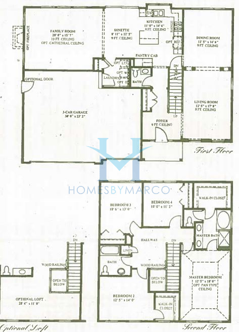 Kennedy model in the park place subdivision in oswego for Park place floor plans