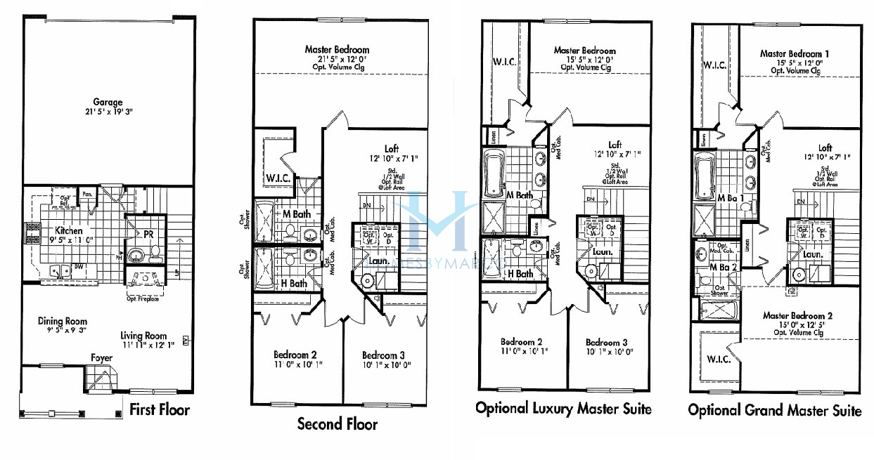 Round Homes Floor Plans: Lapis Model In The Valley Lakes Subdivision In Round Lake