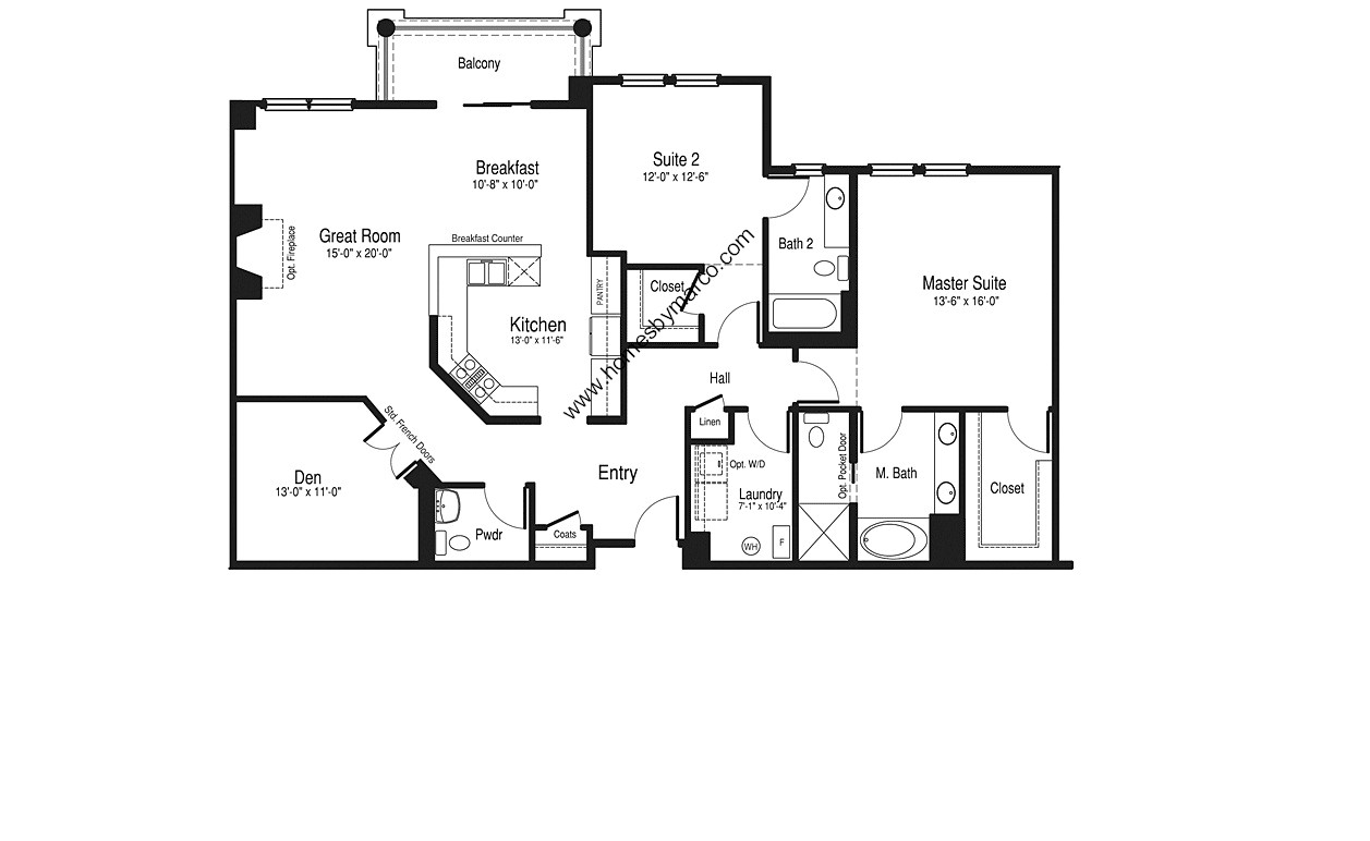 Homes By Marco Floor Plans: Lennox Model In The Hamptons Of Hinsdale Subdivision In