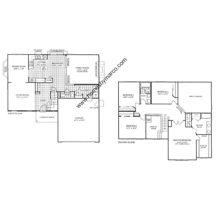 Arbor Homes Floor Plans: Linden Model In The Arbor Gate Subdivision In Oswego