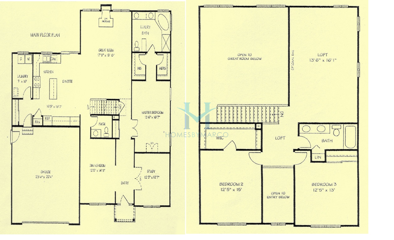 Madison model in the the trails of dawson creek for Madison home builders house plans