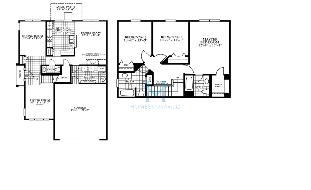 Homes By Marco Floor Plans: Marigold Model In The Cambridge Lakes Subdivision In