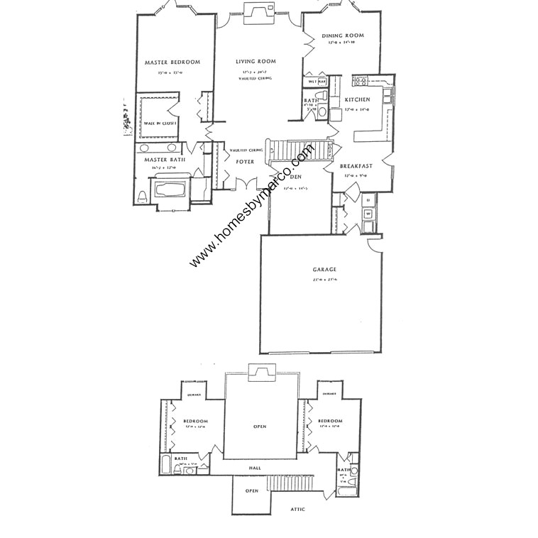Marshfield model in the fields of long grove subdivision for Marshfield homes floor plans