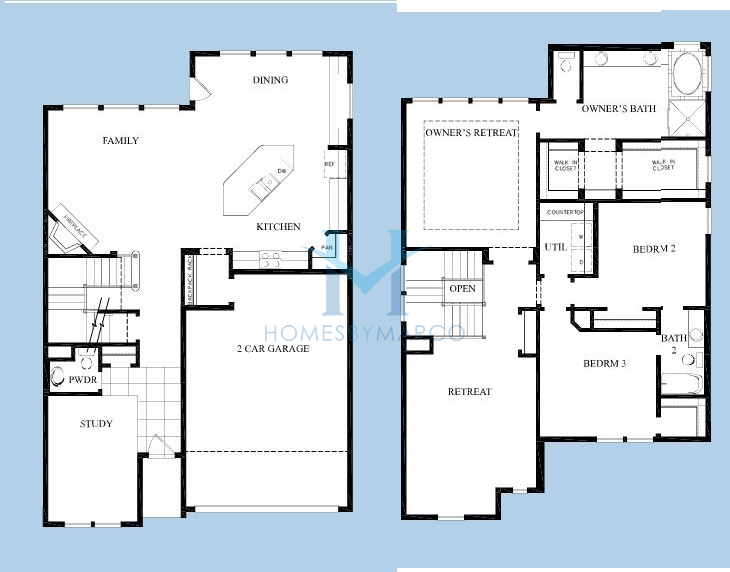 Maryville model in the reserve at barrington subdivision for Barrington floor plan
