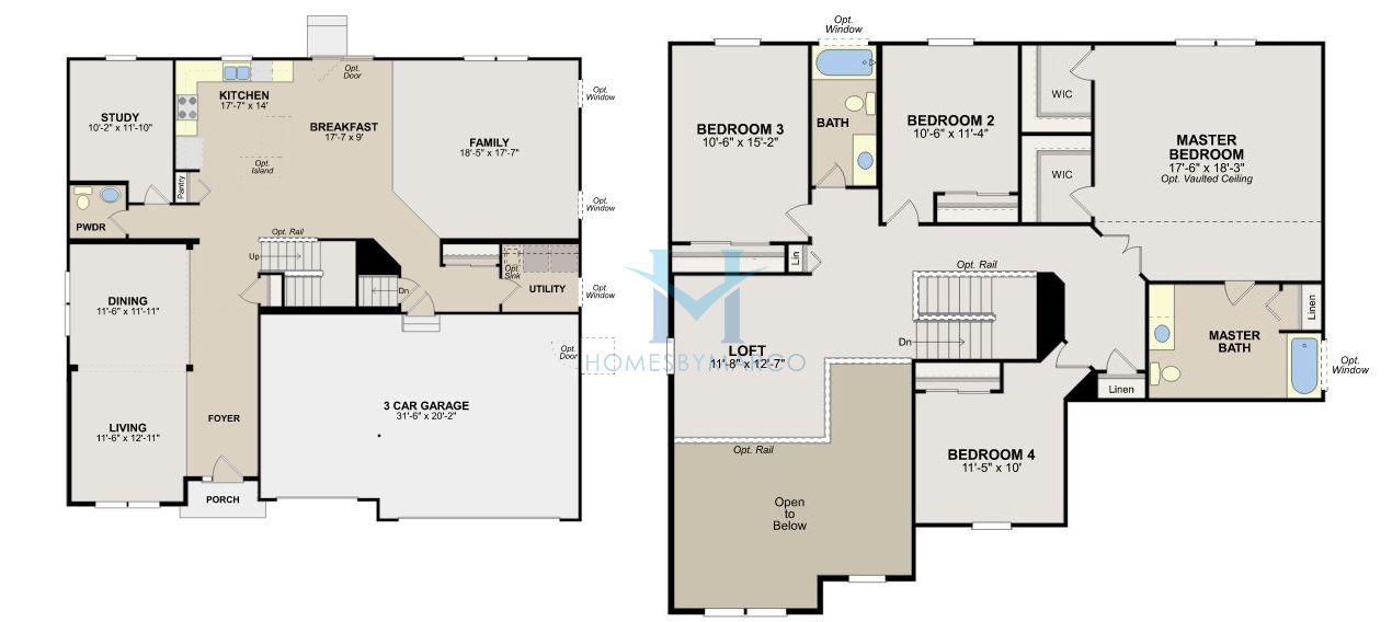 Mckinley model in the saratoga springs subdivision in for Saratoga homes floor plans
