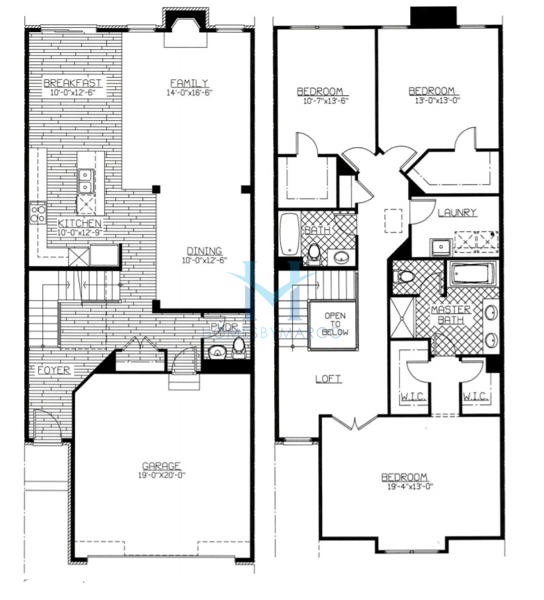 Montgomery model in the timber trails subdivision in for Western floor plans