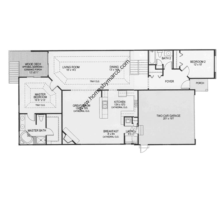 Monticello model in the crystal lake estates subdivision for Monticello floor plan