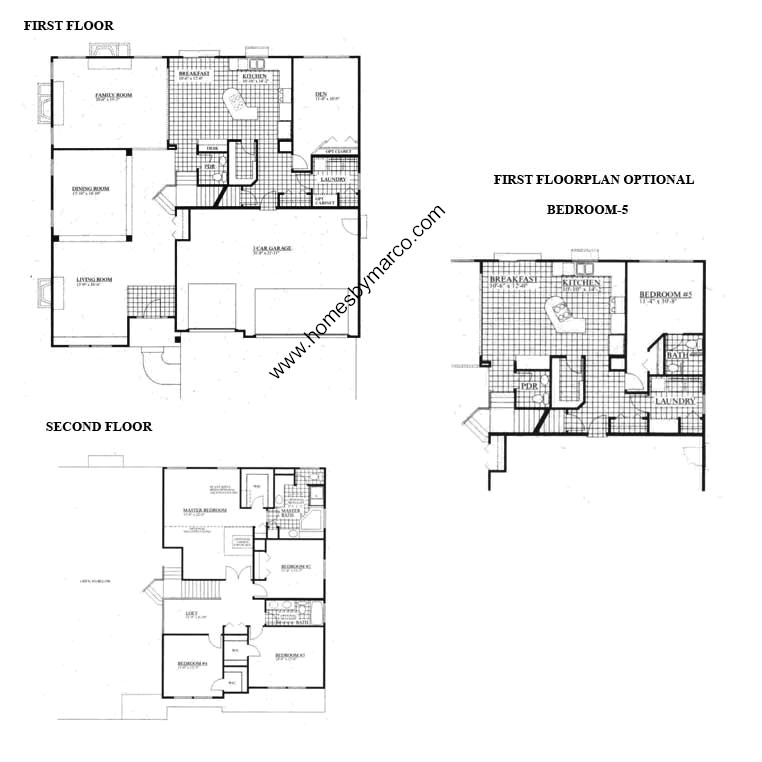 Monticello model in the somerfield subdivision in for Monticello floor plan
