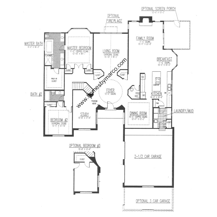 Monticello model in the fields of long grove subdivision for Monticello floor plan