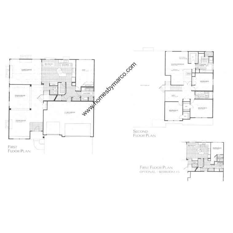 Monticello model in the forest trail subdivision in for Monticello floor plan