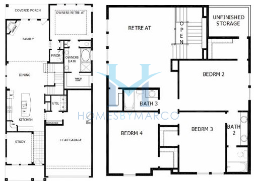 Moonsgate model in the reserve at barrington subdivision for Barrington floor plan