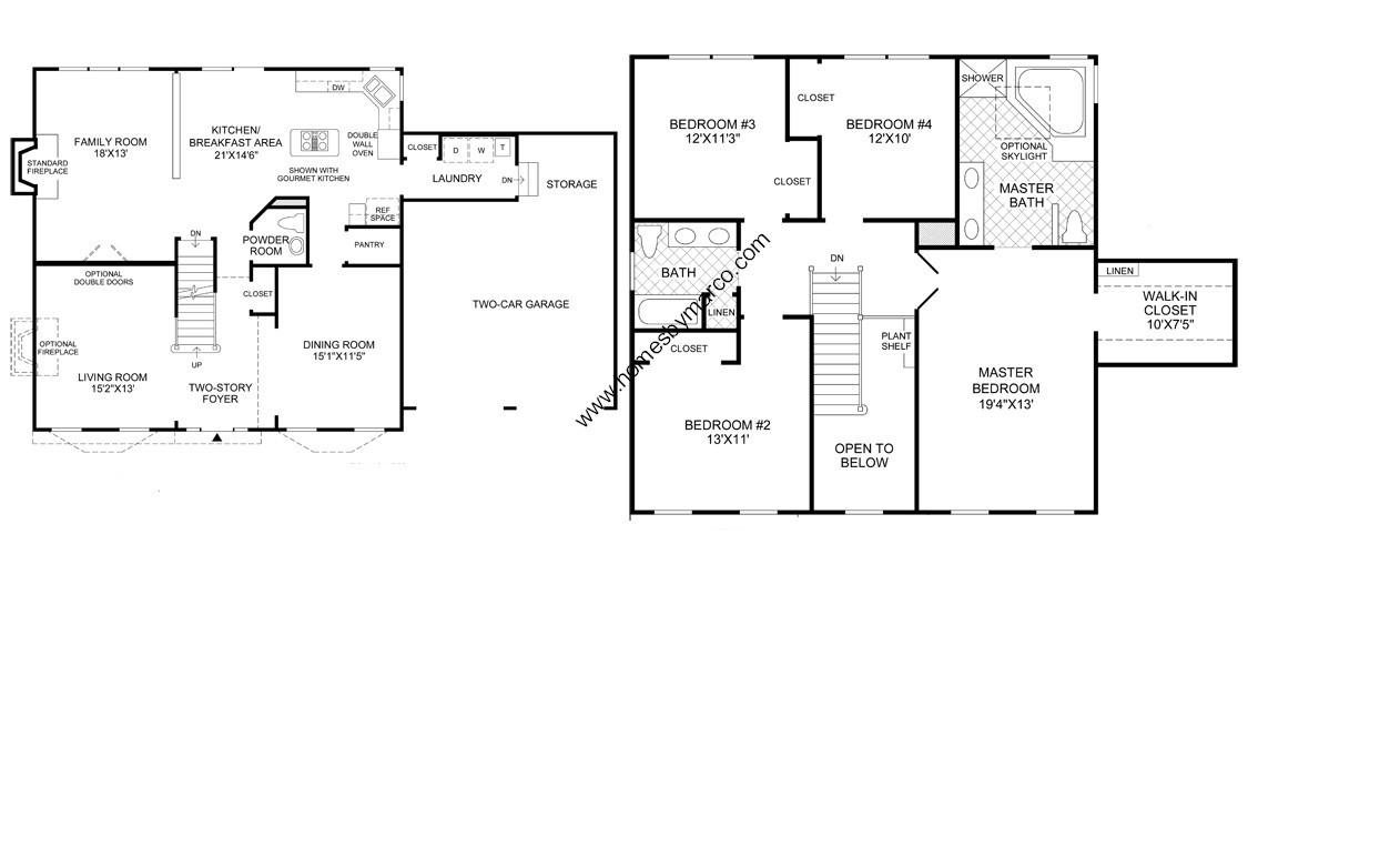 Nantucket model in the bowes creek country club for Nantucket floor plan